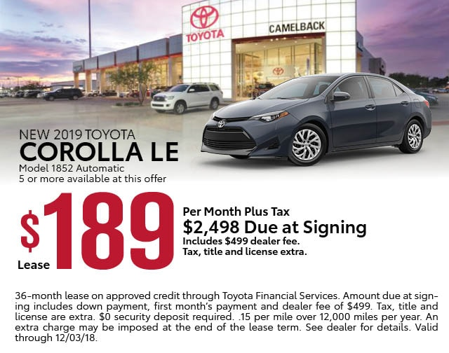 New Toyota Lease Specials Phoenix Az