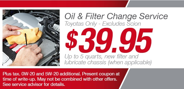 Toyota Oil Change Coupon >> Phoenix Oil Change Coupons Toyota Service Maintenance