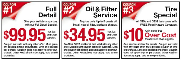 Camelback Toyota Service coupons