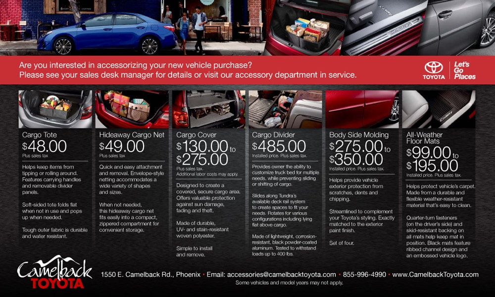 Accessories Camelback Toyota Toyota Accessories Near