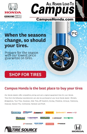 When the seasons change, so should your tires.