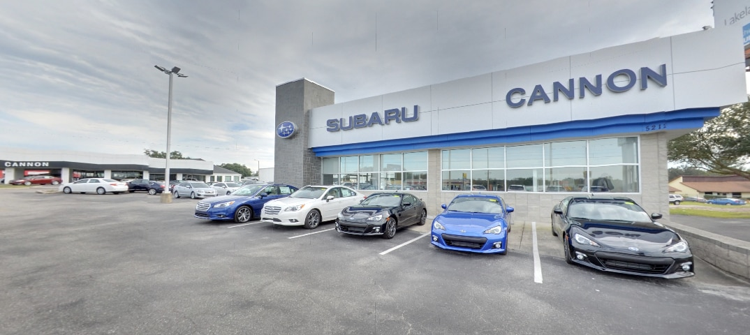New & Used Car Lot at  Cannon Subaru in Central Florida