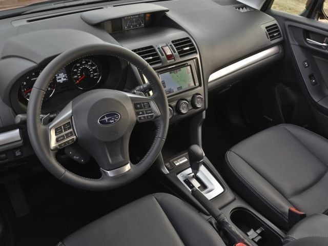 inside the Subaru Forester SUV