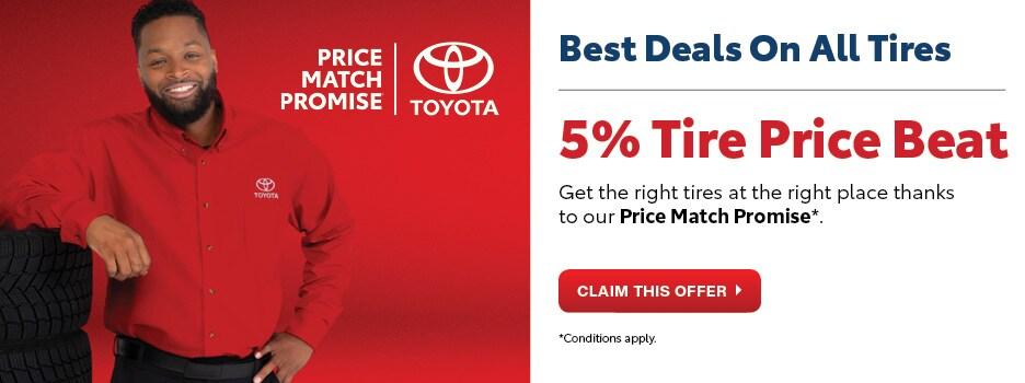 5% Tire Price Beat Guarantee
