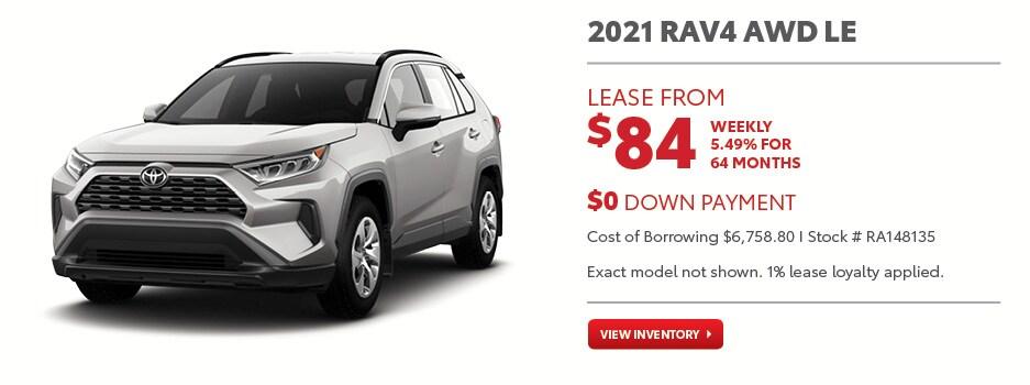 2021 RAV4 AWD LE November Offer
