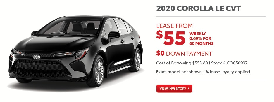 2020 Corolla LE CVT September Offer