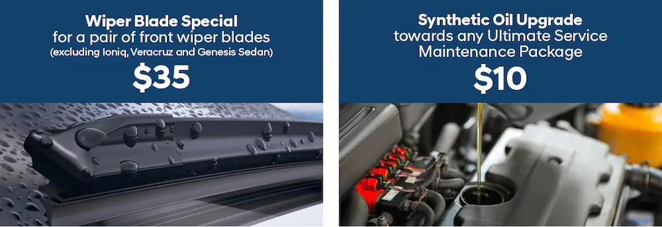 $35 Wiper Blade Special and/or $10 Synthetic Oil Upgrade