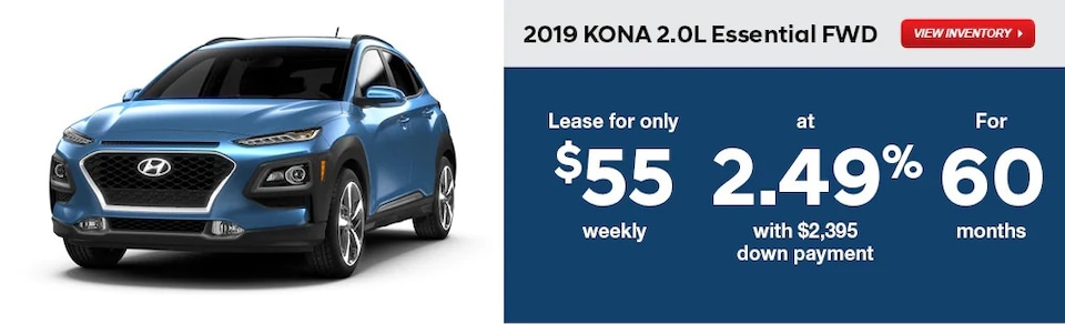 2019 KONA Special Finance and Lease Rates