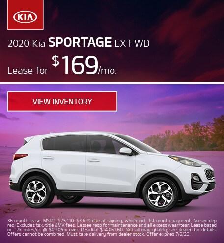 2020 Kia Sportage LX FWD - June 2020