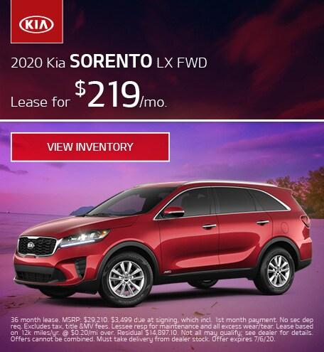 2020 Kia Sorento LX FWD - June 2020