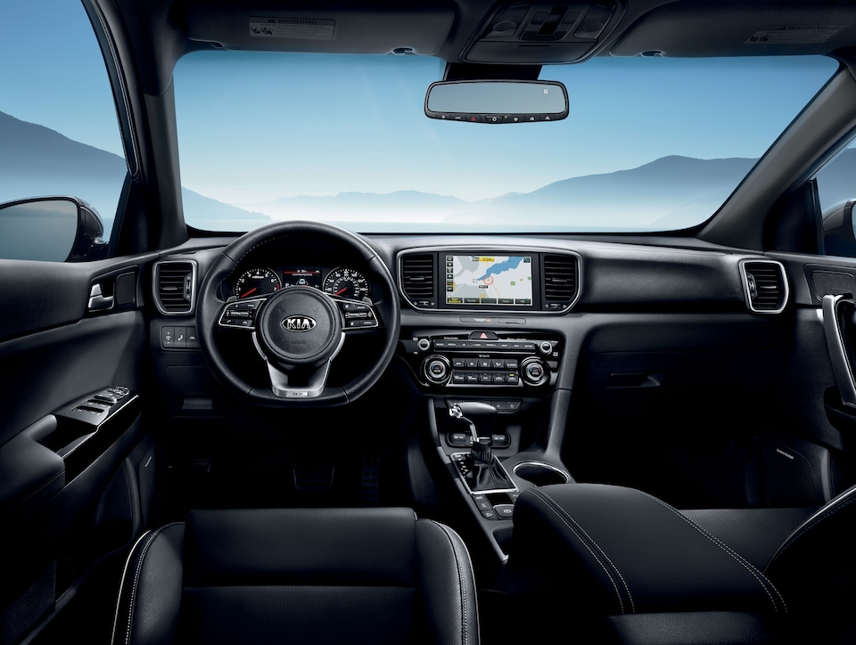 Interior of the New 2020 Kia Sportage