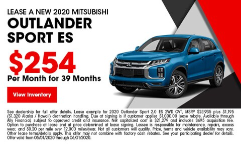 Lease A New 2020 Mitsubishi Outlander Sport ES