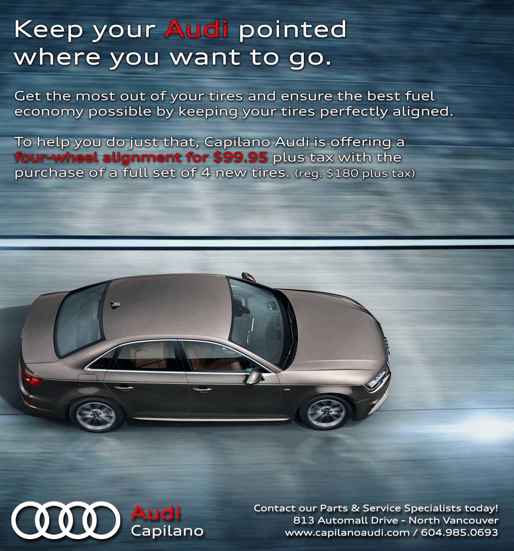 Audi Pre Owned Certified: Audi Service & Parts Promotions