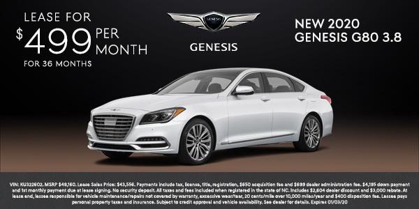 New 2020 Genesis G80 3.8