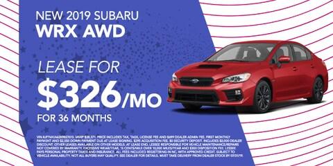 New 2019 Subaru WRX AWD