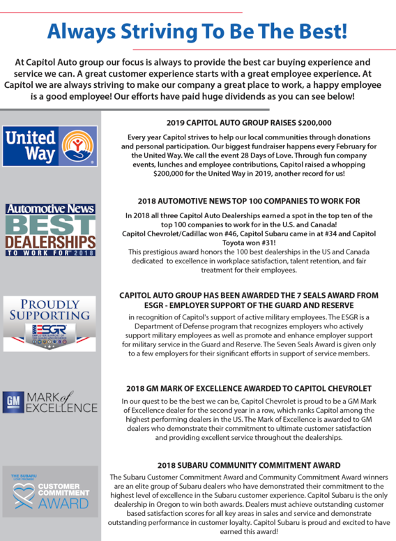 Accolades Capitol Auto Group