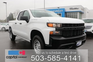 2019 Chevrolet Silverado 1500 Work Truck Truck Double Cab 1GCRYAEH0KZ298374 in Salem, OR at Capitol Chevrolet