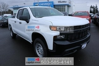 2019 Chevrolet Silverado 1500 Work Truck Truck Double Cab 1GCRYAEF3KZ189258 in Salem, OR at Capitol Chevrolet