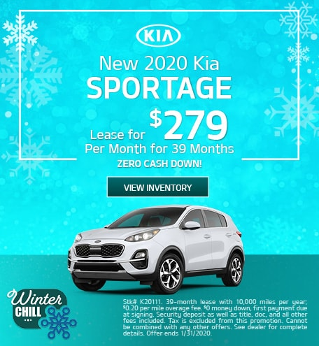 New 2020 Kia Sportage - January