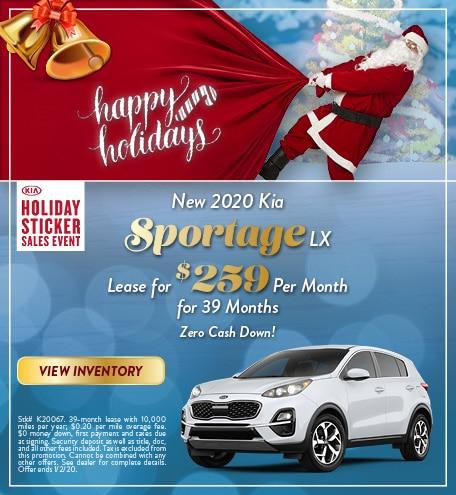 New 2020 Kia Sportage - Dec