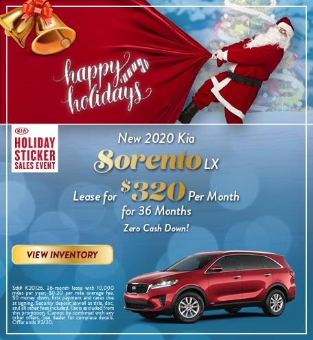 New 2020 Kia Sorento - Dec
