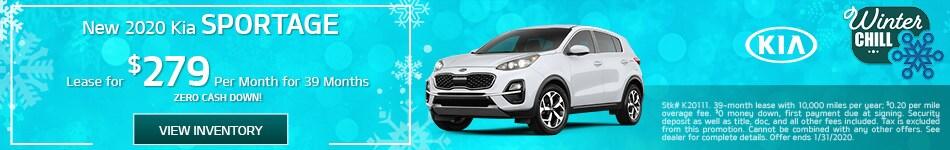 New 2020 Kia Sportage - January