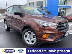 New 2018 Ford Escape S SUV in Bennington VT