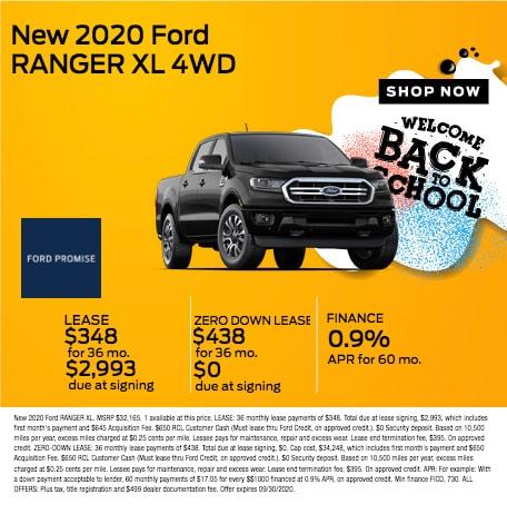 2020 Ford Ranger XL 4WD