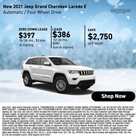 New 2021 Jeep Grand Cherokee Laredo E