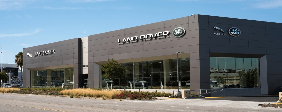 Exterior view of Land Rover South Bay from the street