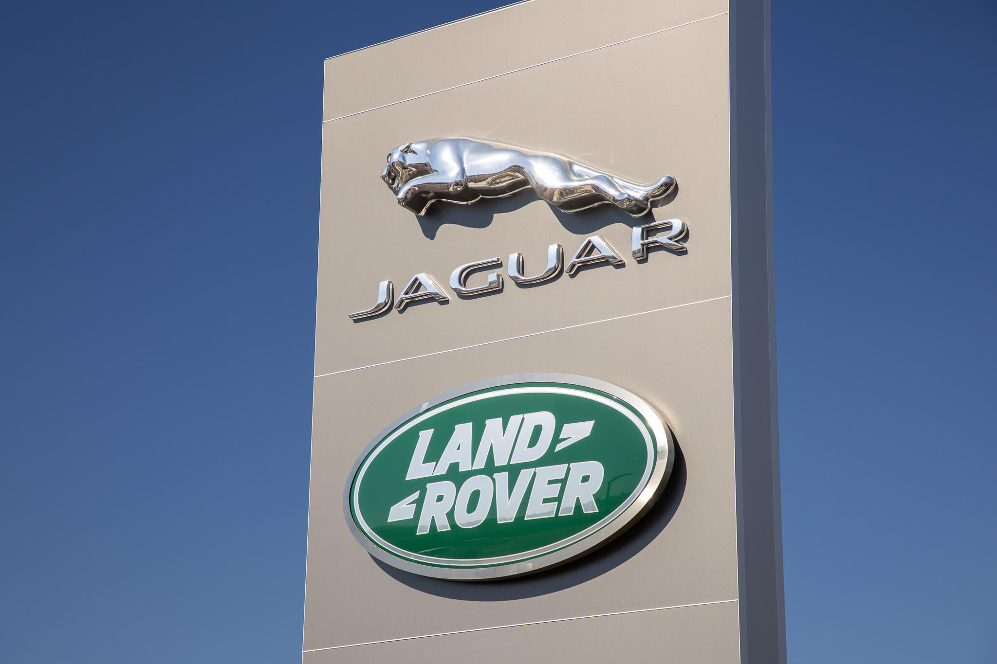 Signage at Land Rover South Bay