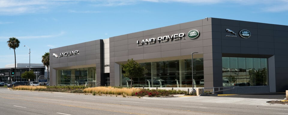 Exterior view of the new Land Rover South Bay dealership