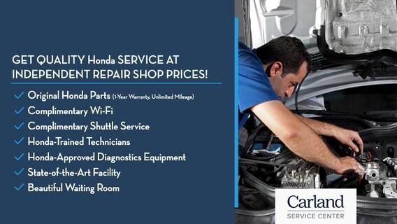 Honda Carland Service >> Service Specials Carland Service Center