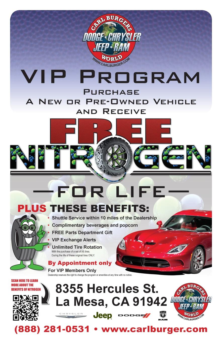 Carl Burgers Vip Program Free Nitrogen For Life And More Carl