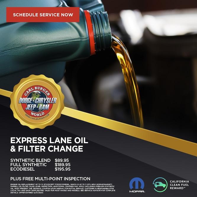Express Lane Oil & Filter Change