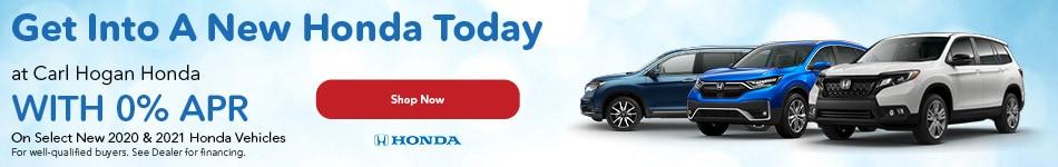 Get Into A New Honda Today at Carl Hogan Honda