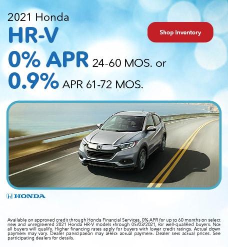 2021 Honda HR-V - 0% APR