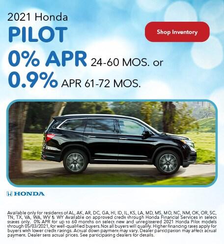 2021 Honda Pilot - 0% APR