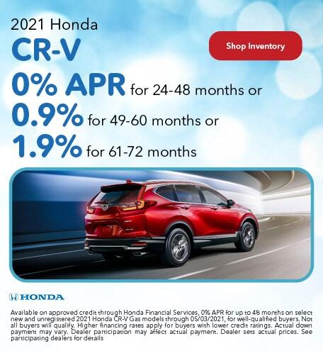 2021 Honda CR-V - 0% APR