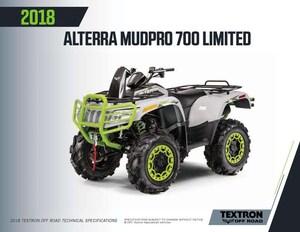 2018 ARCTIC CAT MudPro 700 Limited