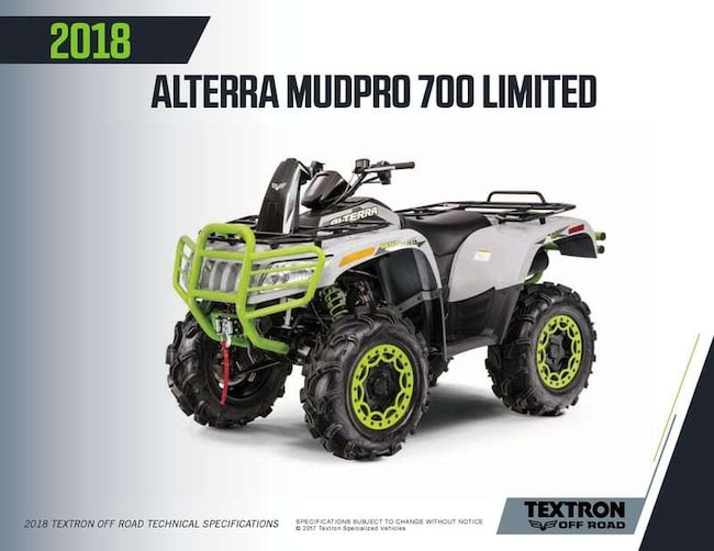 2018 ARCTIC CAT MudPro 700 Limited