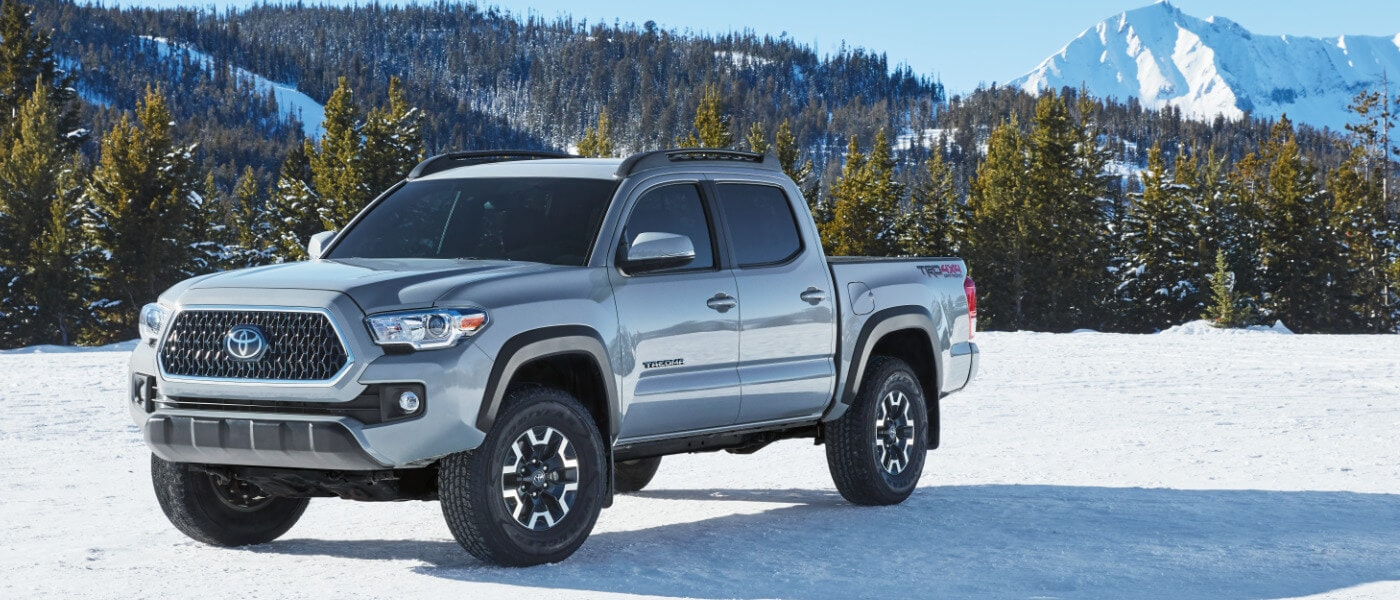 2020 Toyota Tacoma parked in the snow
