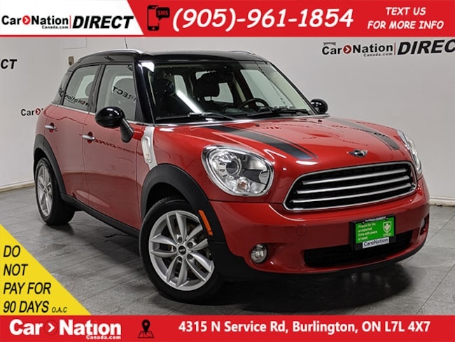 Used Red 2013 Mini Countryman For Sale Car Nation Canada Direct