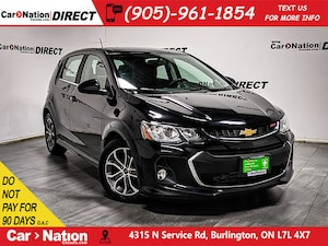 2018 Chevrolet Sonic LT RS| SUNROOF| BACK UP CAMERA|