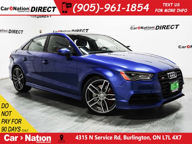 2016 Audi S3 2.0T Technik quattro| NAVI| SUNROOF| Sedan DYNAMIC_PREF_LABEL_AUTO_CERTIFIED_USED_DETAILS_INVENTORY_DETAIL1_ALTATTRIBUTEAFTER