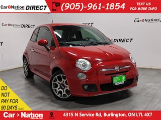 2012 Fiat 500 Sport| AS-TRADED| LEATHER-TRIMMED SEATS| Hatchback