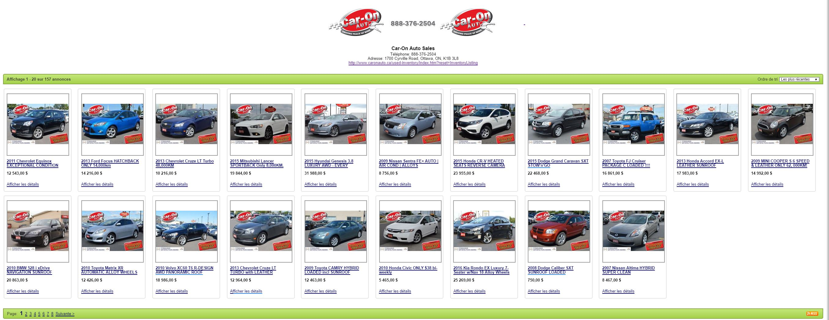 used cars kijiji ottawa gatineau Car-On