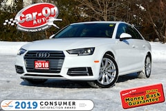 2018 Audi A4 2.0T Quattro LEATHER SUNROOF HTD SEATS Sedan