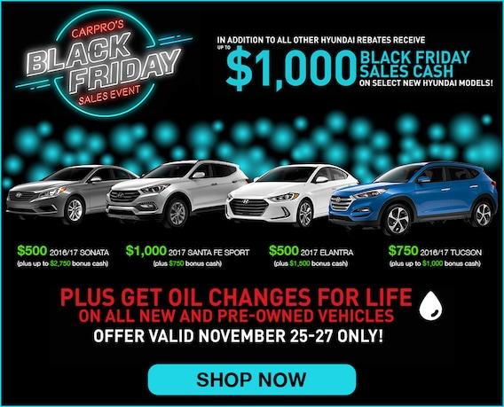 Black Friday Sales Event Car Pros Hyundai Renton