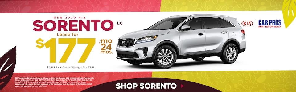 New 2020 Kia Sorento LX